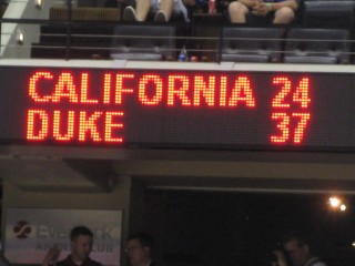 Jacksonville, FL 2010:  Duke enjoys a well-earned halftime lead in its second-round game of the NCAA tournament, en route to what would be its fourth championship in the past 20 seasons.  Good for THEM!